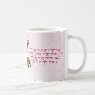 Aaronic, das hebräische Rose segnet Kaffeetasse