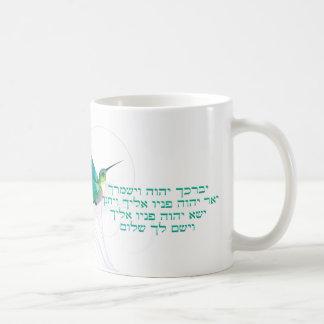 Aaronic, das hebräischen Kolibri segnet Kaffeetasse