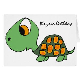 AB, lustige Schildkröte-Geburtstags-Karte