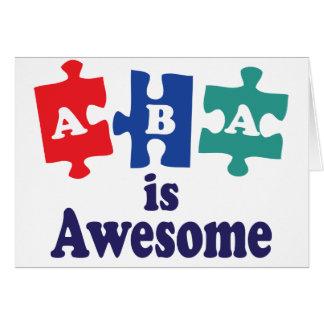ABA-Therapie ist fantastisch Karte