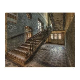 Abandoned Place Holzleinwand Treppe Holz Leinwand