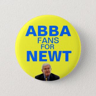 Abba Fans für Newt- Gingrichknopf Runder Button 5,1 Cm