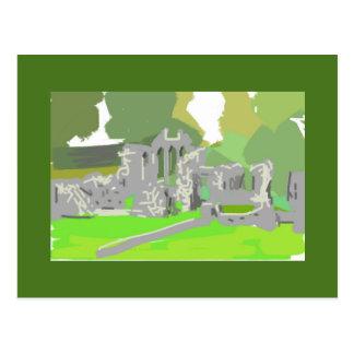 Abbaye Irlande de pouce de cadeau de carte de