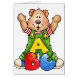 ABC-Teddybär Grußkarten