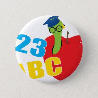ABC Worm Runder Button 5,1 Cm