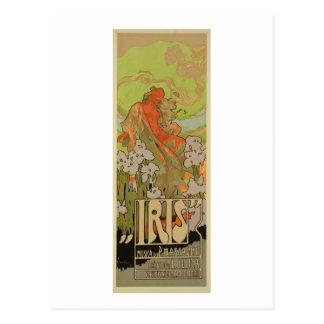 """Abdeckung der Kerbe und Libretto der Oper """"Iris"""", Postkarte"""