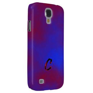 Abdeckung der Monogramm-lila Entwurfs-Galaxie S4 Galaxy S4 Hülle