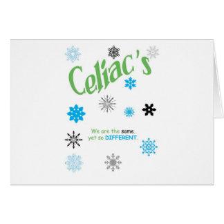 Abdominale Schneeflocken Grußkarte
