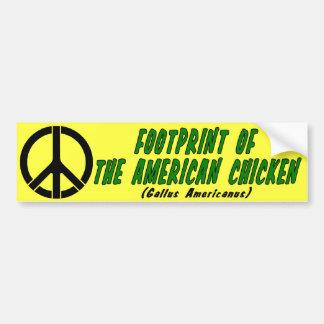 Abdruck des amerikanischen Huhns Autoaufkleber