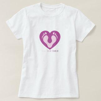 Abdruck-Herz-T-Stück T-Shirt
