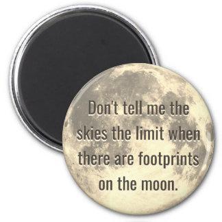 Abdrücke auf dem Mond Runder Magnet 5,1 Cm