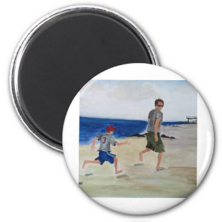 Abdrücke in sand.jpg runder magnet 5,7 cm