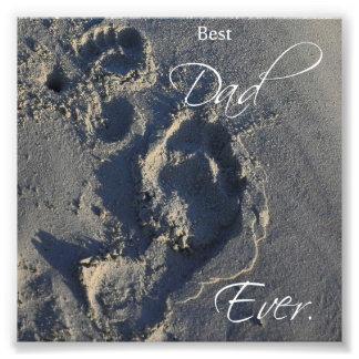 Abdrücke Sand-im besten Vati-überhaupt Quadrat-Dru Photo Druck