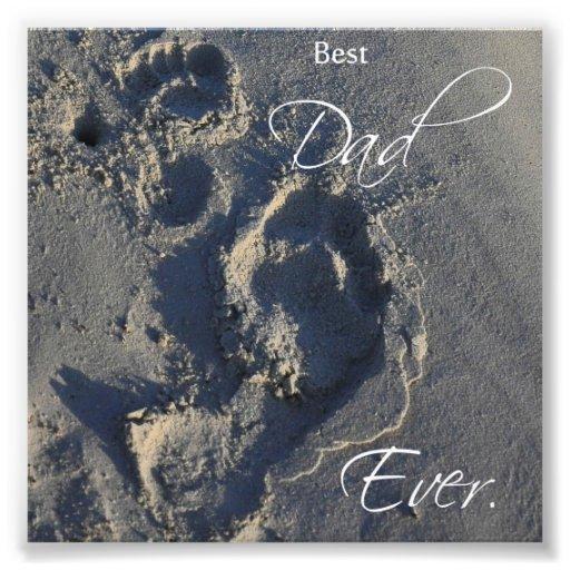 Abdrücke Sand-im besten Vati-überhaupt Quadrat-Dru Photodrucke