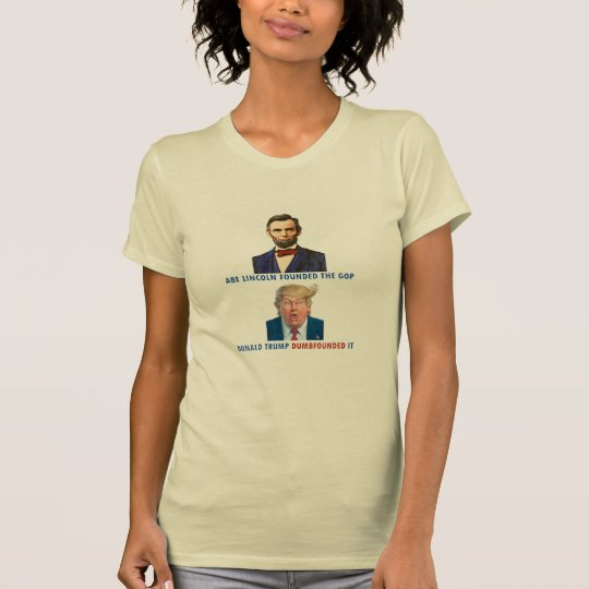 Abe Lincoln gegen Donald Trump T-Shirt
