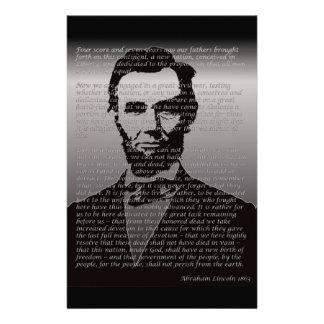 Abe Lincoln Gettysburg Adresse Briefpapier