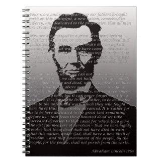 Abe Lincoln Gettysburg Adresse Notizblock