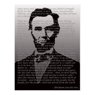 Abe Lincoln Gettysburg Adresse Postkarte