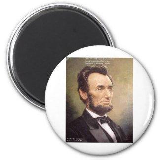 "Abe Lincoln ""klügere"" Runder Magnet 5,1 Cm"
