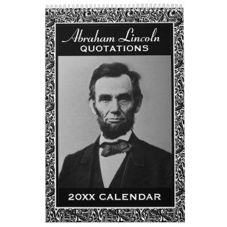 Abe Lincoln Zitate mit PräsidentenFoto Kalender
