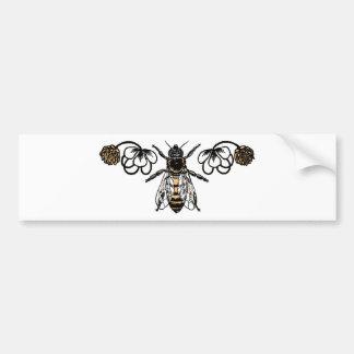 abeille avec le trèfle autocollant de voiture