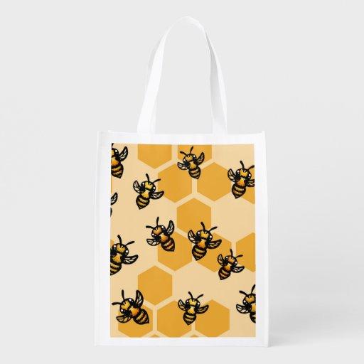 Abeilles de miel sac d'épicerie