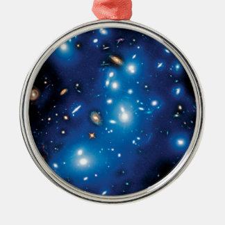 Abell 2744 Pandora Galaxie-Gruppen-Raum-Foto Silbernes Ornament