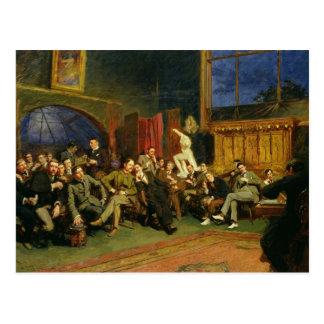 Abend im Studio mit meinen Studenten, 1886 Postkarte