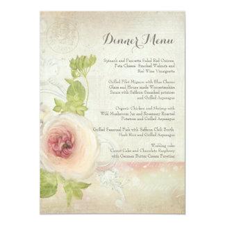 Abendessen-Menü-Vintage Karte