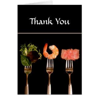 Abendessen-Party danken Ihnen zu kardieren Karte
