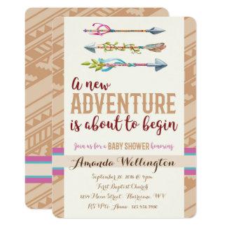 Abenteuer-Babyparty-Einladung Karte