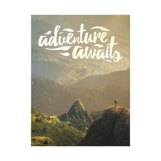 Abenteuer erwartet Plakat Leinwanddruck