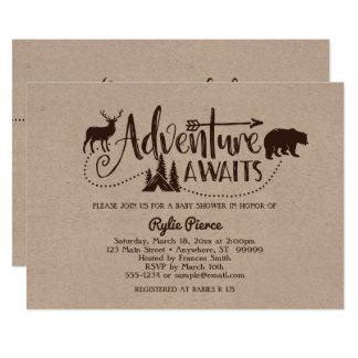 Abenteuer erwartet Wildnis-Babyparty-Einladung Karte