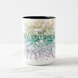 Abenteuer-Tasse Zweifarbige Tasse