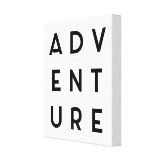 Abenteuer-unbedeutendes Zitat Leinwanddruck