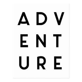 Abenteuer-unbedeutendes Zitat Postkarte