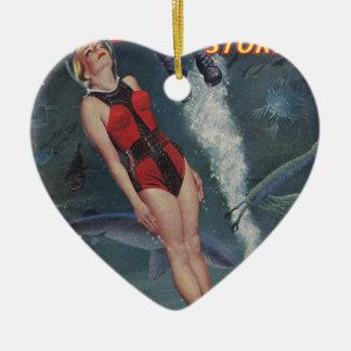 Abenteuer Unterwasser Keramik Herz-Ornament