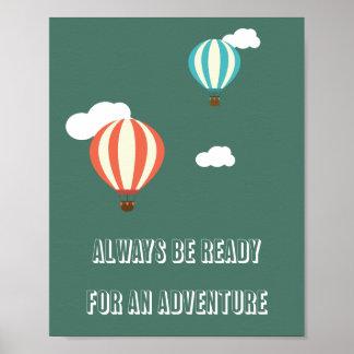 Abenteuer-Zitat-Plakat Poster