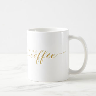 Aber erste Kaffee-Imitat-Glitterconfetti-Tasse Kaffeetasse
