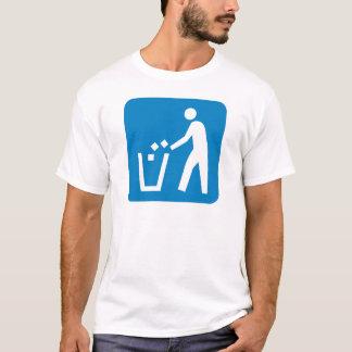 Abfall-/Abfall-/Abfall-Landstraßen-Zeichen T-Shirt