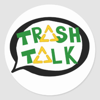 Abfall-Gesprächsaufkleber Runder Aufkleber