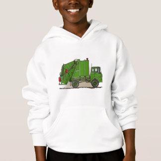 Abfall-LKW-Grün scherzt Hoodie