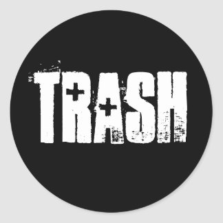 Abfall Runder Aufkleber