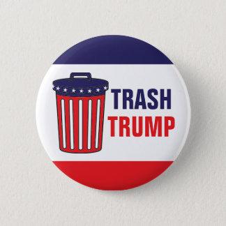 Abfall-Trumpf-Roter, weißer u. Blau-Abfall kann Runder Button 5,7 Cm