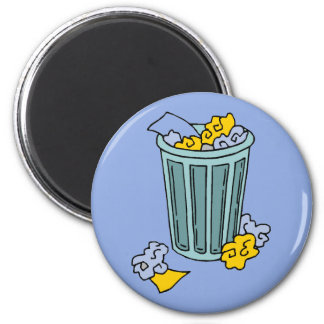 Abfalleimer-Ikone Runder Magnet 5,7 Cm