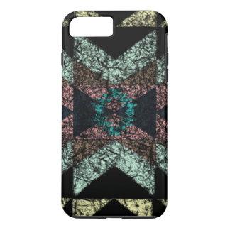 Abgedroschenes Stammes- Muster iPhone 8 Plus/7 Plus Hülle