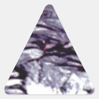 abgekühlte Lavakunst Dreieckiger Aufkleber