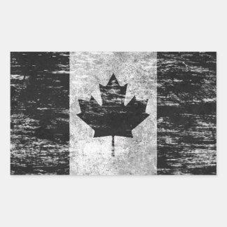 Abgeriebene und getragene kanadische Flagge, Rechteckiger Aufkleber