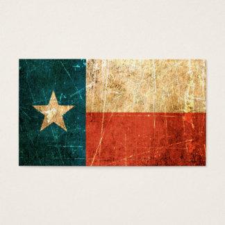 Abgeriebene und getragene Texas-Flagge Visitenkarte