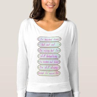 Abgerissen aber nicht aufgebend t-shirt